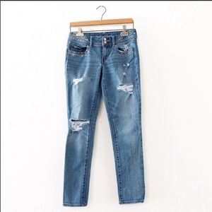 American Eagle Outfitters Distressed Skinny Jeans